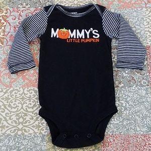Mommy's Little Pumpkin Onesie Black, Orange, White